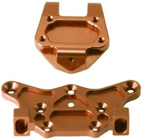 Alum. Top Plate Upper/Lower (Copper): ASSOCIATED RC8 - GH-2472